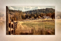 "ba-0723 - ""Trostle Farm, Fence and Round Tops"""