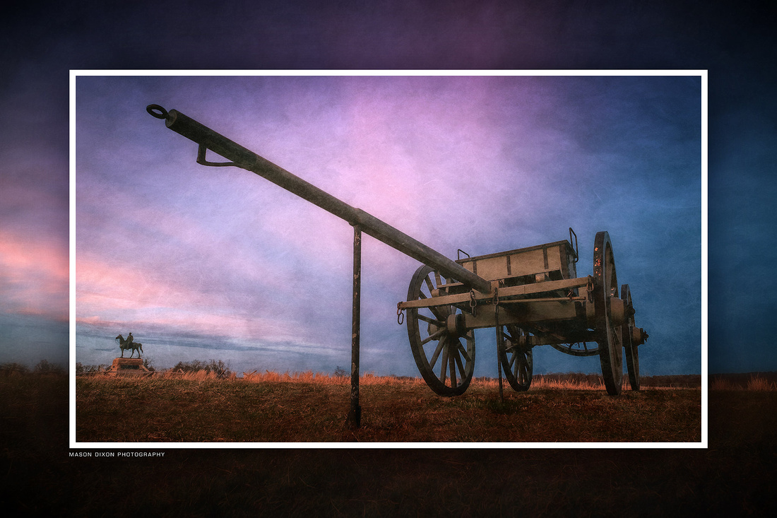 """ba-0759 - """"Caisson with Meade Monument"""""""