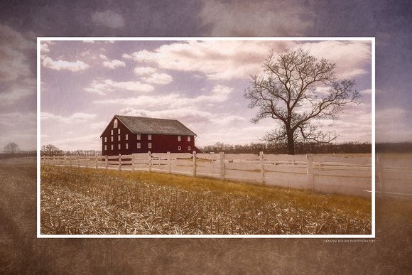 "ba-0758 - ""Sherfy Barn from Excelsior Field"""